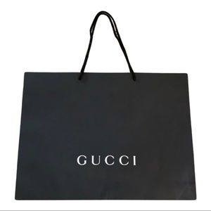 Gucci black paper shopping bag